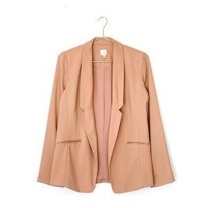 lc lauren conrad blush pink open front blazer